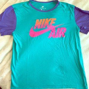EUC Nike Paneled gradient NikeAir SS Tee, LG🔥🔥